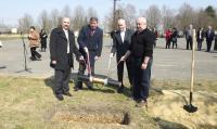 Vasvár, Geotermikus energiahasznosítás korszerűsítése - alapcsőletétel, 2015.03.20.